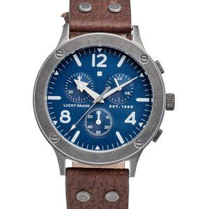 J42 Rockpoint Brown Leather Strap Watch 42mm